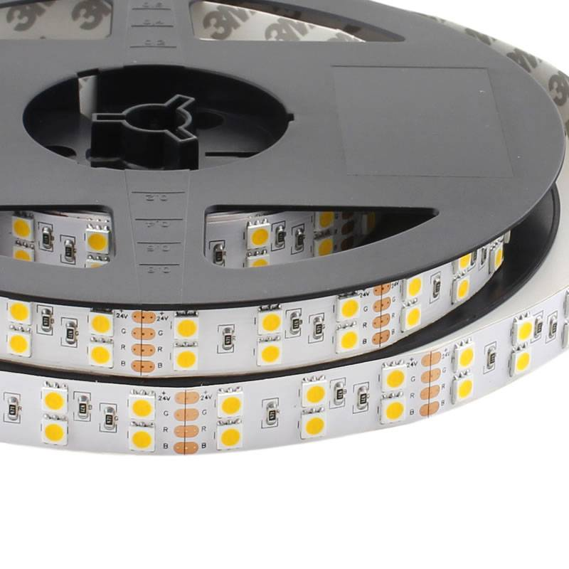 Tira LED EPISTAR SMD5050, DC24V, 5m (120 Led/m) - IP20, Blanco cálido